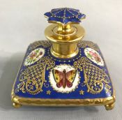 Victorian Paris Porcelain Pillow Scent Bottle