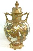 Victorian Royal Crown Derby Aesthetic Movement Covered Cabinet Vase