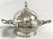 Victorian Silver Plate Butter Dish