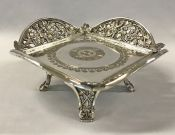 Victorian Silver Plate Card Tray