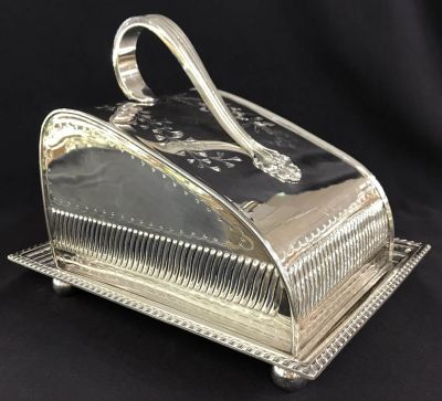 Victorian Silver Plate Cheese Dish 4