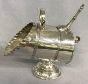Victorian Silver Plate Coal Scuttle Sugar Bowl