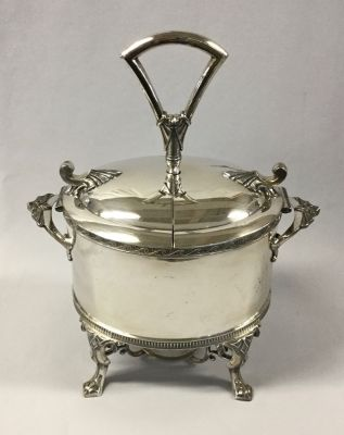 Victorian Silver Plate Egg Caddy