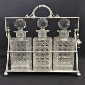 Victorian Silver Plate Tantalus Stand