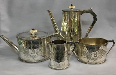 Victorian Silver Plate Tea and Coffee Set