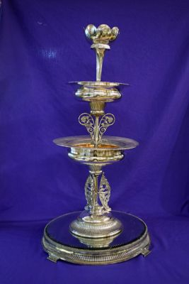 Victorian Silver Plate Three Tiered Epergne  Southington