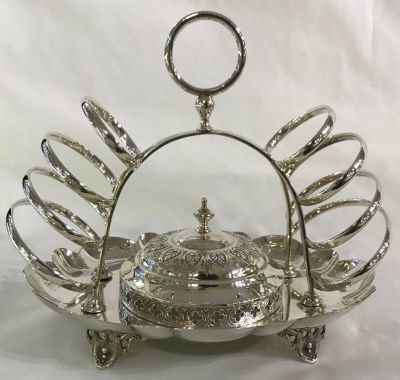 Victorian Silver Plate Toast Rack 21232