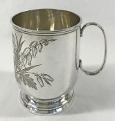 Victorian Sterling Silver Christening Cup, Circa 1887