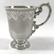 Victorian Sterling Silver Christening Cup, London 1865