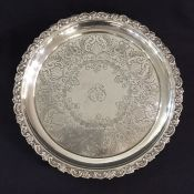 Victorian Sterling Silver Footed Salver