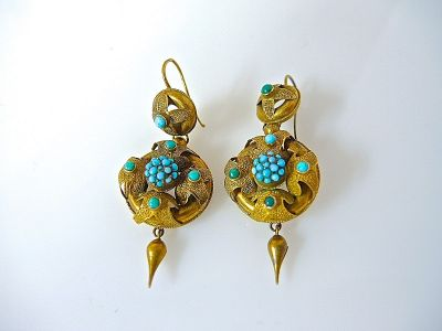 Victorian Turquoise Earrings CFA140665