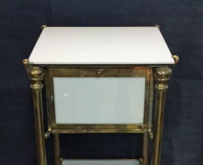 Victorian brass and glass table 1