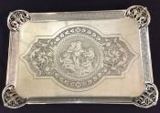 Victorian Silver Plate Dresser Tray