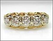 Vintage 5 Diamond Ring