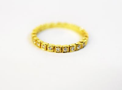 Vintage Inspired Diamond Half Eternity Ring