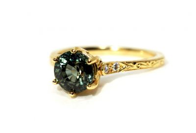 Vintage-Inspired-Green-Sapphire-and-Diamond-Ring-AGL74125-83889aa