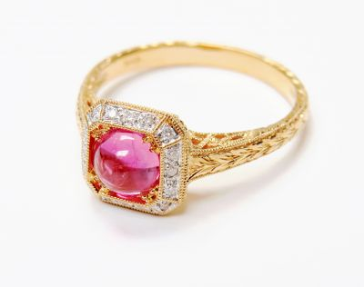 Vintage-Inspired-Pink-Sapphire-and-Diamond-Ring-CFA160593-82093