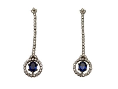 Vintage-Inspired-Sapphire-and-Diamond-Drop-Earrings