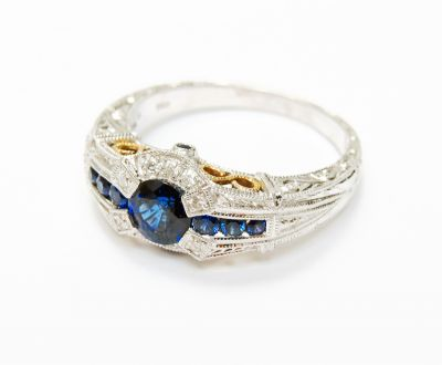 Vintage-Inspired-Sapphire-and-Diamond-Ring-CFA160584-82085