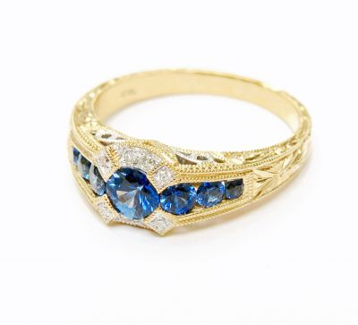 Vintage-Inspired-Sapphire-and-Diamond-Ring-CFA160586-82087