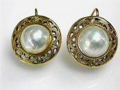 Vintage Mabe Pearl Earrings