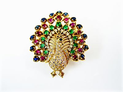 Vintage-Multi-Gemstone-Peacock-Brooch-CFA1510116-80225