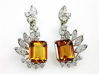Vintage-Orange-Citrine-and-Diamond-EarringsCFA160847-82566