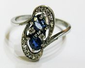 Vintage Sapphire and Diamond Toi et Moi Ring