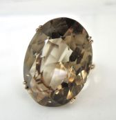 Vintage Smoky Quartz Ring