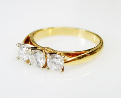 Vintage Trinity 3 Diamond Ring