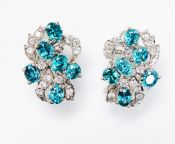 Vintage Zircon and Cubic Zirconia Earrings