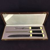 Vintage 3 Piece Boxed Carving Set