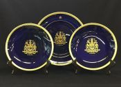 Vintage Canadian 1967 Centennial Commemorate Plates