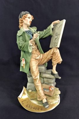 Vintage Capodimonte Porcelain Sculpture of a Painter e