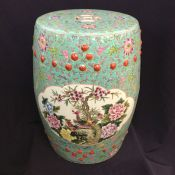 Vintage Chinese Barrel Shaped Ceramic Garden Stool / Side Table