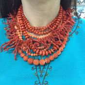 Vintage Coral Necklaces