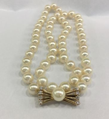 Vintage Cultured Pearl Necklace b