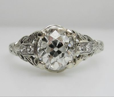 Vintage Diamond Engagement Ring AGL44945