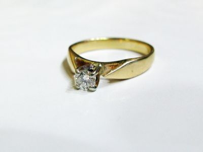 Vintage Diamond Solitaire  Engagement Ring CFA150807 79844
