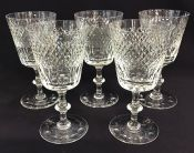 Vintage Edinburgh Crystal Water Goblet/Claret Glasses