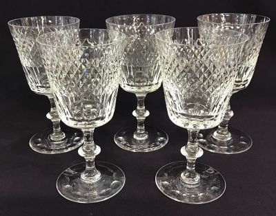 Vintage Edinburgh Crystal Water GobletClaret Glasses