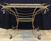 Vintage Gilt Metal Cart (Bar/Tea)