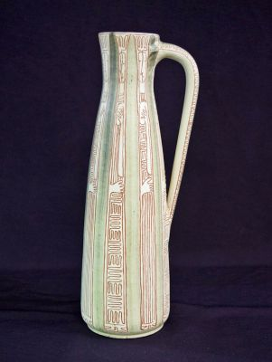 Vintage Harlander Earthenware Tall Jug