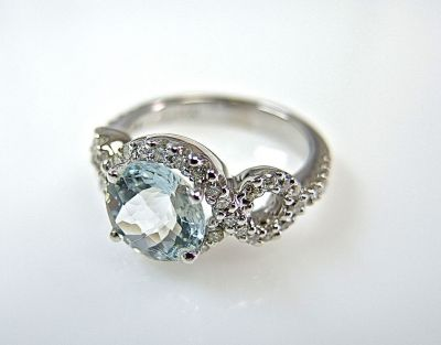 Vintage Inspired Aquamarine and Diamond Ring CFA1405232 77898