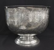 Vintage Large Sterling Silver Presentation/Punch Bowl