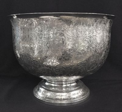 Vintage Large Sterling Silver Presentation Punch Bowl