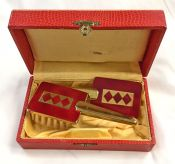 Vintage Miniature Brush and Mirror Set