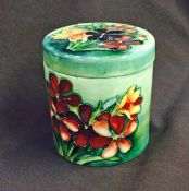 Vintage Moorcroft Spring Flowers Cylindrical Box