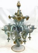 Vintage Murano Glass 5 Light Candelabra
