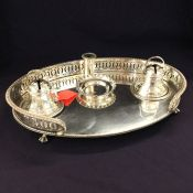 Vintage Oval Silver Plate Inkwell